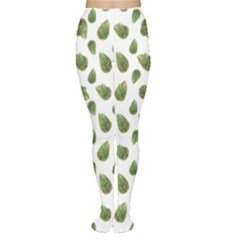 Leaves Motif Nature Pattern Women s Tights