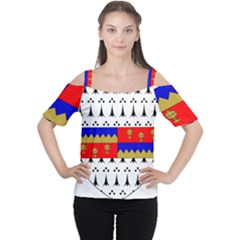 County Tipperary Coat of Arms  Women s Cutout Shoulder Tee