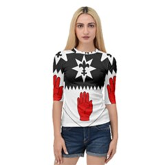 County Tyrone Coat Of Arms  Quarter Sleeve Tee