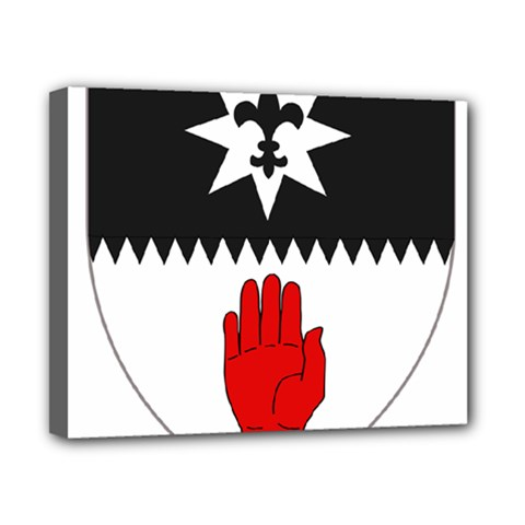 County Tyrone Coat of Arms  Canvas 10  x 8