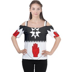 County Tyrone Coat of Arms  Women s Cutout Shoulder Tee