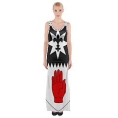 County Tyrone Coat of Arms  Maxi Thigh Split Dress