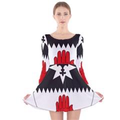 County Tyrone Coat of Arms  Long Sleeve Velvet Skater Dress
