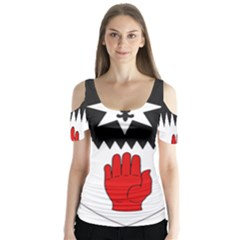 County Tyrone Coat of Arms  Butterfly Sleeve Cutout Tee