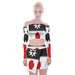 County Tyrone Coat Of Arms  Off Shoulder Top With Skirt Set