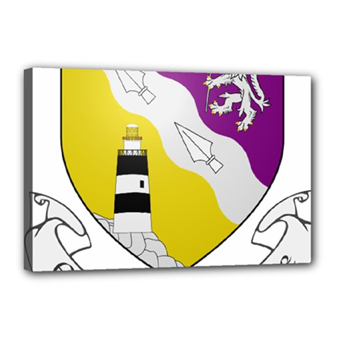 County Wexford Coat of Arms  Canvas 18  x 12