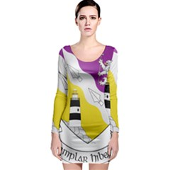 County Wexford Coat of Arms  Long Sleeve Bodycon Dress