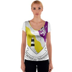 County Wexford Coat of Arms  Women s V-Neck Cap Sleeve Top