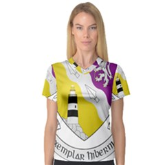 County Wexford Coat of Arms  Women s V-Neck Sport Mesh Tee
