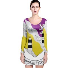 County Wexford Coat of Arms  Long Sleeve Velvet Bodycon Dress