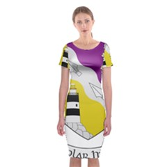 County Wexford Coat of Arms  Classic Short Sleeve Midi Dress