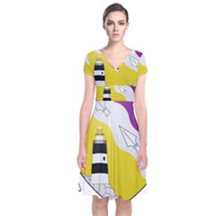 County Wexford Coat of Arms  Short Sleeve Front Wrap Dress