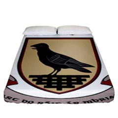County Dublin Coat of Arms  Fitted Sheet (Queen Size)