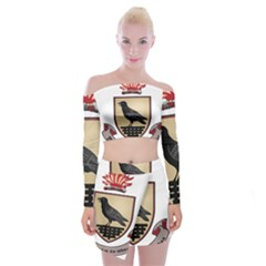 County Dublin Coat of Arms  Off Shoulder Top with Skirt Set