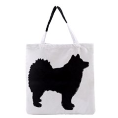 Finnish Lapphund Silhouette Black Grocery Tote Bag