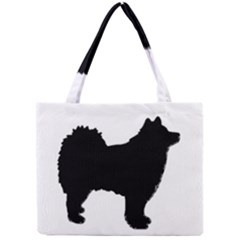 Finnish Lapphund Silhouette Black Mini Tote Bag