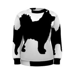 Finnish Lapphund Silhouette Black Women s Sweatshirt
