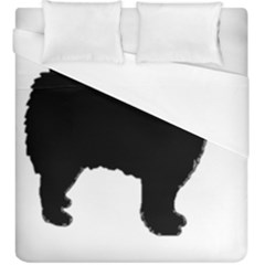 Finnish Lapphund Silhouette Black Duvet Cover (King Size)