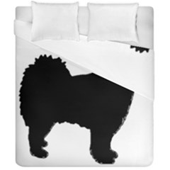Finnish Lapphund Silhouette Black Duvet Cover Double Side (California King Size)