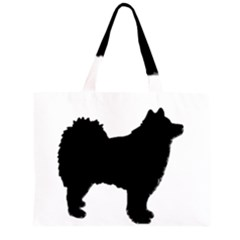 Finnish Lapphund Silhouette Black Large Tote Bag