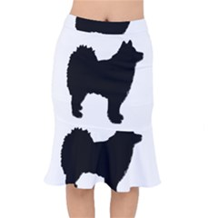 Finnish Lapphund Silhouette Black Mermaid Skirt