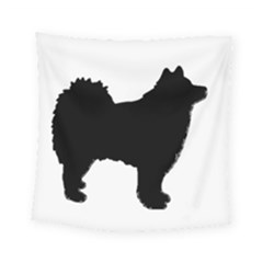Finnish Lapphund Silhouette Black Square Tapestry (Small)