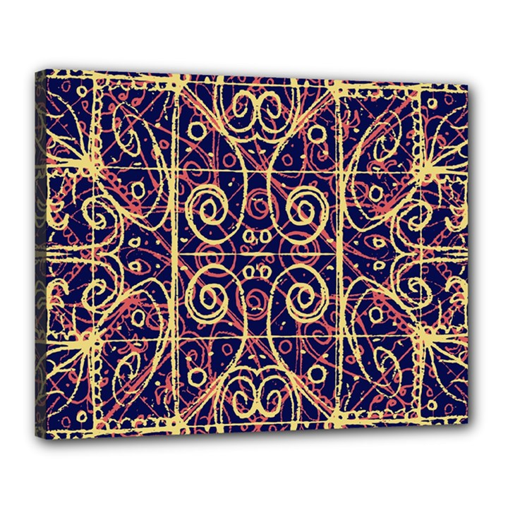 Tribal Ornate Pattern Canvas 20  x 16