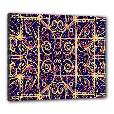 Tribal Ornate Pattern Canvas 24  x 20