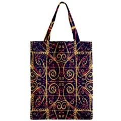 Tribal Ornate Pattern Zipper Classic Tote Bag