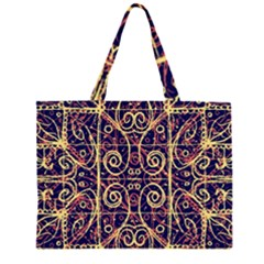 Tribal Ornate Pattern Large Tote Bag