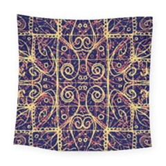 Tribal Ornate Pattern Square Tapestry (Large)