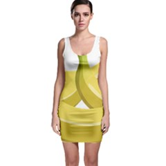 Banana Sleeveless Bodycon Dress
