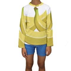 Banana Kids  Long Sleeve Swimwear