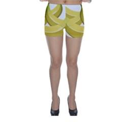 Banana Skinny Shorts