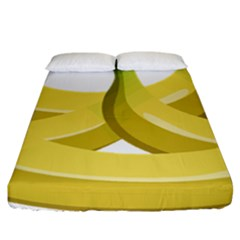 Banana Fitted Sheet (California King Size)