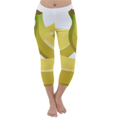 Banana Capri Winter Leggings