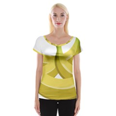 Banana Women s Cap Sleeve Top