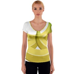 Banana Women s V-Neck Cap Sleeve Top