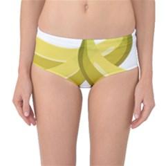 Banana Mid-Waist Bikini Bottoms