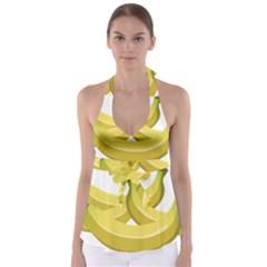 Banana Babydoll Tankini Top