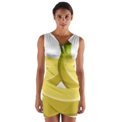 Banana Wrap Front Bodycon Dress
