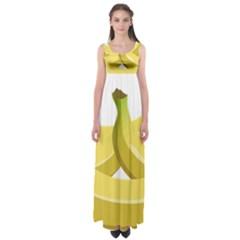 Banana Empire Waist Maxi Dress