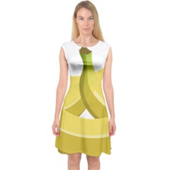 Banana Capsleeve Midi Dress