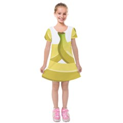 Banana Kids  Short Sleeve Velvet Dress