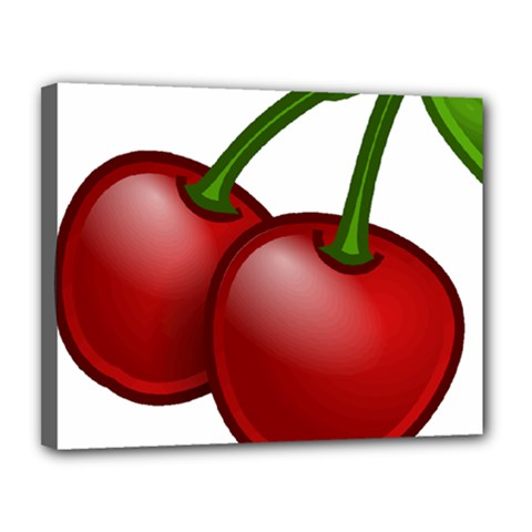 Cherries Canvas 14  x 11