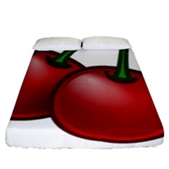Cherries Fitted Sheet (Queen Size)