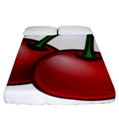 Cherries Fitted Sheet (King Size)