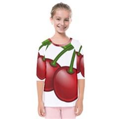 Cherries Kids  Quarter Sleeve Raglan Tee