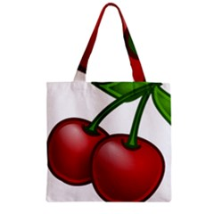 Cherries Zipper Grocery Tote Bag