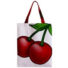 Cherries Zipper Classic Tote Bag